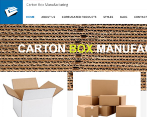 carton box website design, Corrugated Boxes website design, Packaging Boxes manufacturing website design in hyderabad