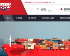 shipping container website design, container website design, shipping transport website design